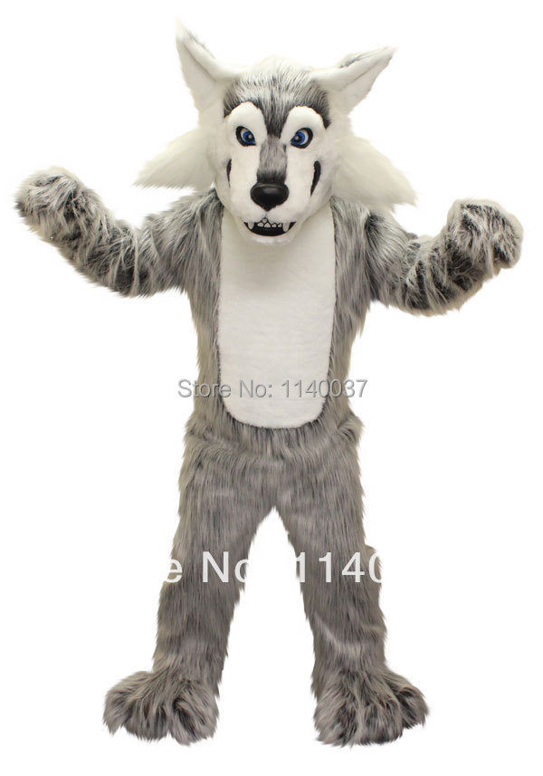 mascot Grey Wolf Mascot Costume coyote custom fancy costume anime cosplay kits mascotte theme fancy dress carnival costume