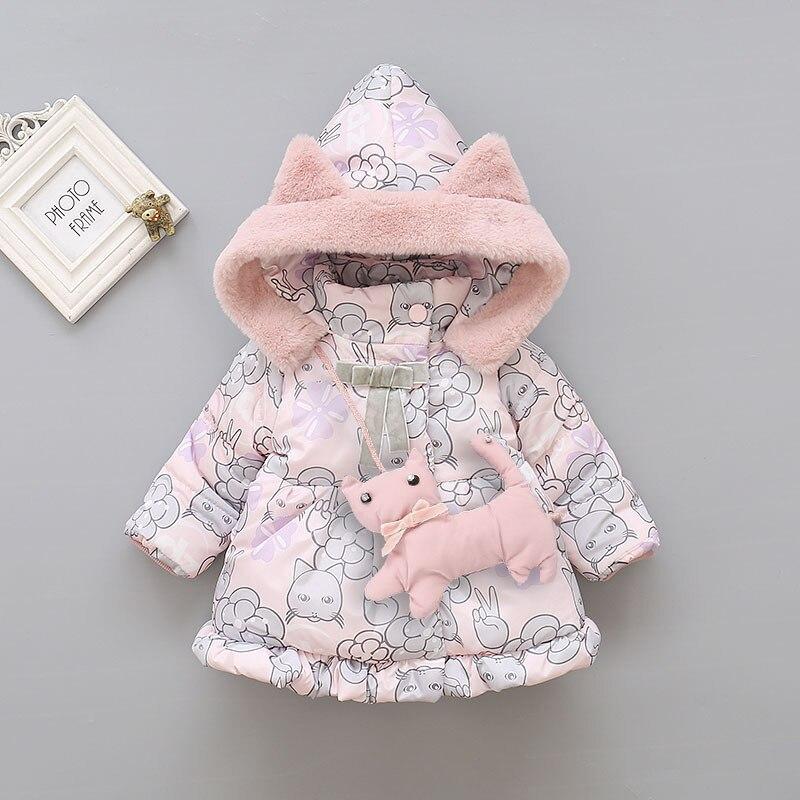 Baby Girls Winter Snowsuit Cotton Coat clothes Children's Thicken Keep Warm Bow Jackets Snowproof  for Newborn Girl Snowsuit|Down & Parkas| |  - title=