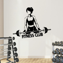 Modern Fitness Club Self Adhesive Wall Decal For Gym Room Pvc Stickers decoration chamber pegatinas paredes decoraci n