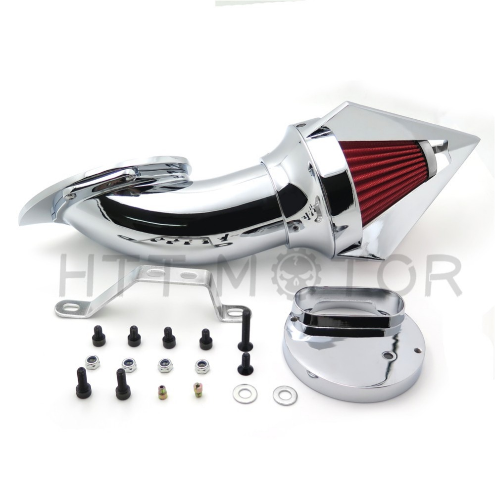 Aftermarket free shipping motorcycle parts Cone Spike Air Cleaner for V-Star 1100 XVS1100 1999-2012 CHROME