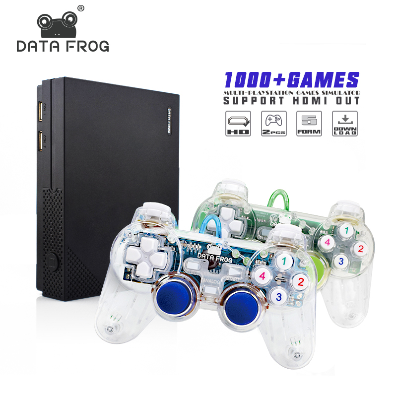 Data Frog Retro Video Game Portable Mini Game Console Support HDMI TV Out Built in 1000 Classic Games For GBA/SNES Format Gift nintendo gba video game cartridge console card metroid fusion eng fra deu esp ita language version