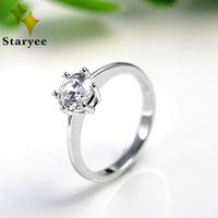 1 0CT Certificated Round Brilliant Cut Moissanite 100 Pure 14K Solid White Gold Engagement Rings Factory