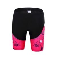 TELEYI Women Pink Bicycle Ciclismo Lycra Bike Sportswear Breathable Gel Bib Short Bike Team Cycling Short