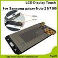 1 шт. Серый Белый Жк-дисплей экран замена сенсорного экрана digitizer панель ассамблея Для samsung note 2 GT-N7100 N7102