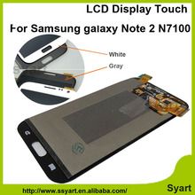 1pcs Gray White Lcd display replacement screen touch screen digitizer panel assembly For samsung note 2 GT-N7100 N7102