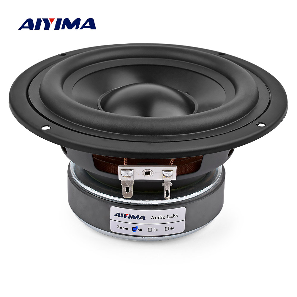 AIYIMA 1Pcs 5 25 Inch 4 8 OHM 50W Subwoofer Speaker Home Theater Car Audio Bass