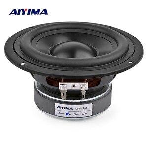 Image 1 - AIYIMA 1 pièces 5.25 pouces Subwoofer haut parleur colonne 4 8 ohms 50W son haut parleur pilote Home cinéma voiture Audio basse Hifi Woofer son