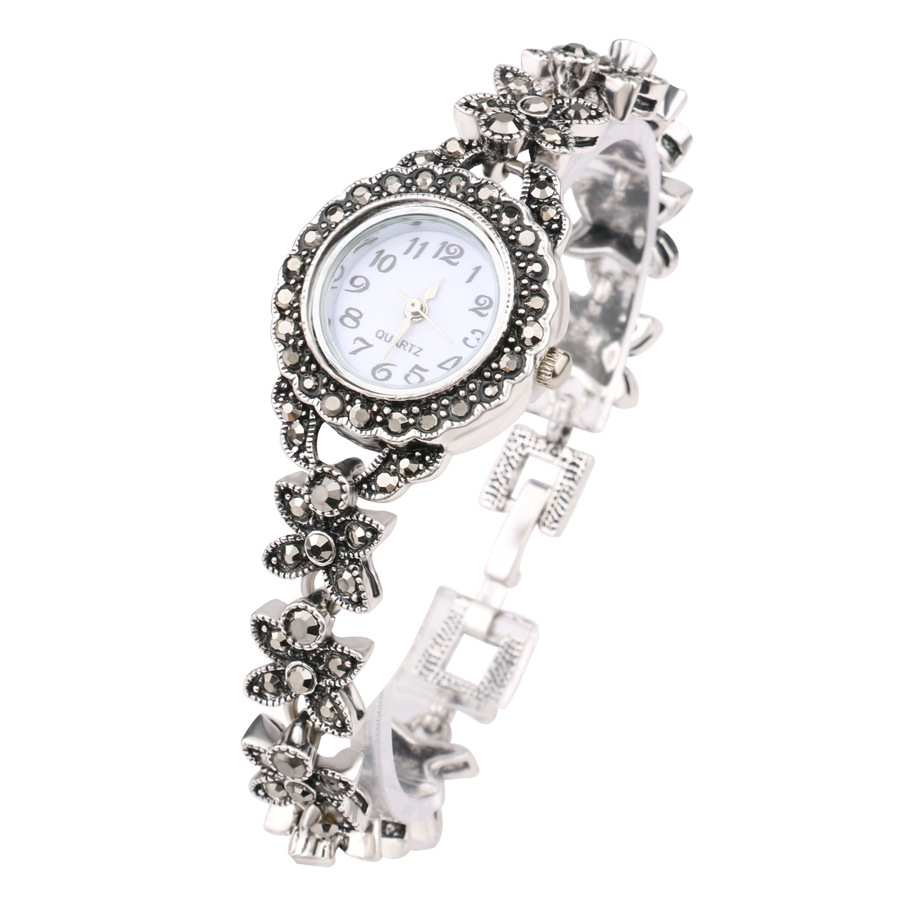 retro silver quartz wristwatch women u0026 39 s bracelet watches