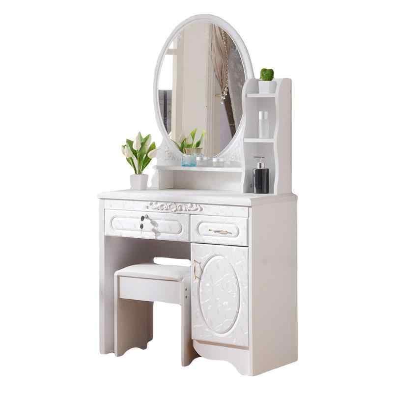 Mesa Mdf Coiffeuse Makeup Box Vanity Dormitorio Chambre Cabinet European Wooden Bedroom Furniture Table Quarto Penteadeira