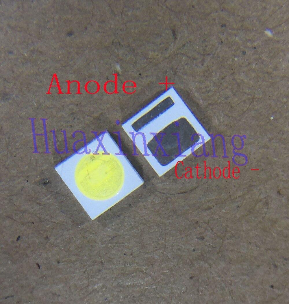 500PCS/Lot Everlight 3030 SMD LED Beads 3V Cold White 1W  For TV Backlight Application