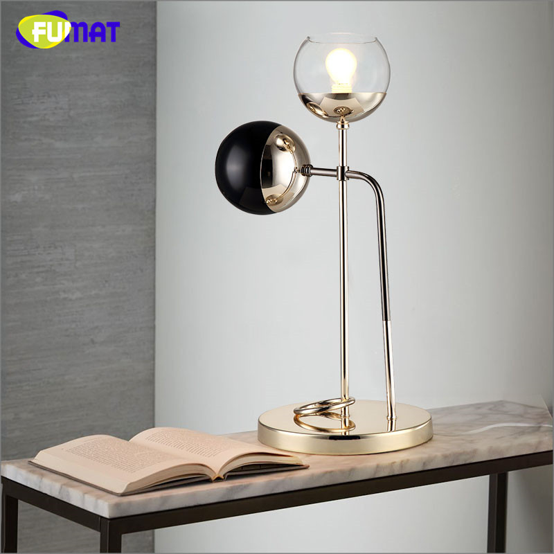 Fumat art glass bubbles table lamp north european modern brief metal fumat art glass bubbles table lamp north european modern brief metal led table lamp living room office bedroom bedside lights in led table lamps from lights aloadofball Gallery