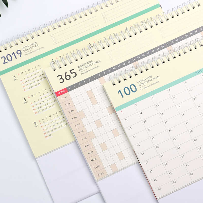 Calendario Planner.Calendario 2019 Pig New Year Cute Bts Calendar Takvim Lovely Pig Year Table Kalender Planner School Stationery Planificador 2019