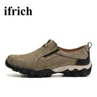 Ifrich Shoes Men Men S Hiking Shoes Outdoor Climbing Trekking Shoes Slip On Outdoor Walking Sneakers
