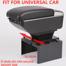 Armrest storage box car organizer seat gap case pocket content box with USB cup holder FIT FOR UNIVERSAL CAR
