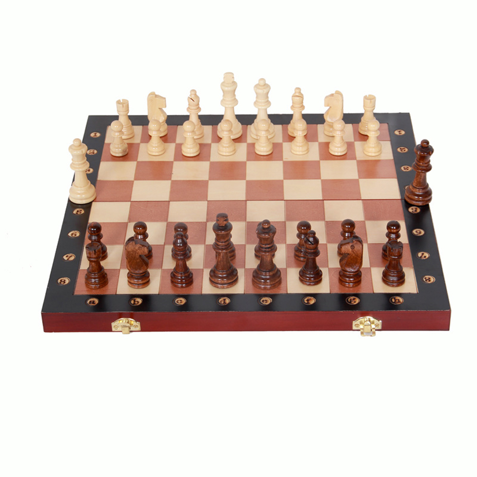 New Chess Set of Wooden Chess Board Chess Pieces Family Games Traditional Games Wooden Folding Upscale Chess Board Games for fun