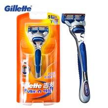 (1 + 1 hoja) Genuine Gillette Fusion afeitado cuchillas de afeitar para  hombres marcas Straight Razor c512d8e87cba