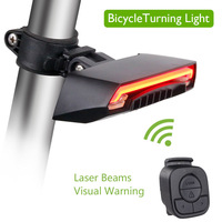 Wireless Bike Bicycle Rear Light laser tail lamp Smart USB Rechargeable Cycling Accessories
