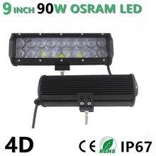 90W 9″ inch Led Light Bar Combo Beam for SUV ATV UTV 4WD 4X4 Offroad Wagon Led Light Bar Fog Lamp headlight 12V 24V