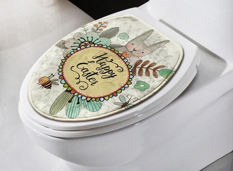 Goedkope Badkamer Matten : Stks set cartoon konijn badkamer tapijt set comfortabele mat wc