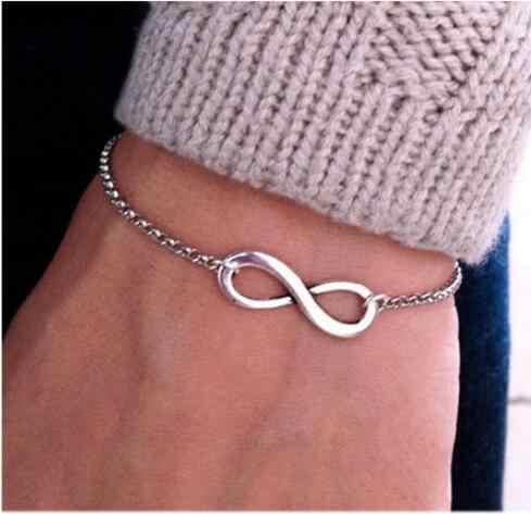 Модные Браслеты Jewelry 2018 Новинки для женщин 8 бесконечное браслет для Для мужчин украшения подарок девушке очарование Браслеты Рождественский подарок