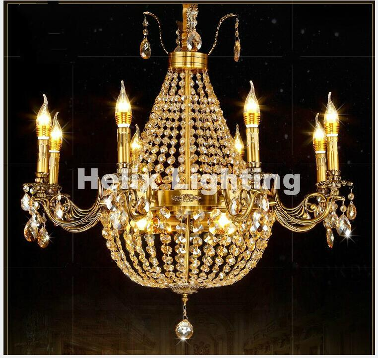 Newly Modern European Brass Pendant Chandelier Lights Copper Lamp Copper Brass Chandelier Light Luxury Antique Copper Pendant d1000mm h650mm 10 heads brass pendant lamp antique brass chandelier vintage copper glass ac 100