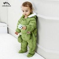 2019 Down Cotton Baby Rompers Winter Thick Boys Costume Girls Warm Infant Snowsuit Kid Jumpsuit Children Outerwear Wear 0 24M