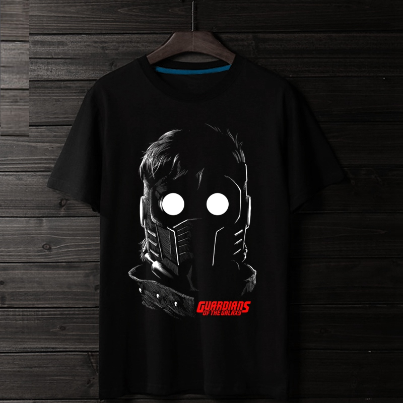 2018 New Star Lord Guardians Starboy 3D Print 100% Cotton Men T-shirt Loose Quality Comfortable Homme Marvel Fans Costume