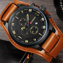 CURREN Men Watches Sport Military Business Casual Male Calendar Clock Luxury Leather Band Wrist Quartz Watches Relogio Masculino pacific angel shark sport watch luxury calendar quartz men male watches fashion red black leather band relogio masculino sh094