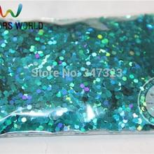 2 мм голографическая Apple Голубой Цвет Блеск дождевания Блёстки для нейл-арта и другие DIY аксессуары