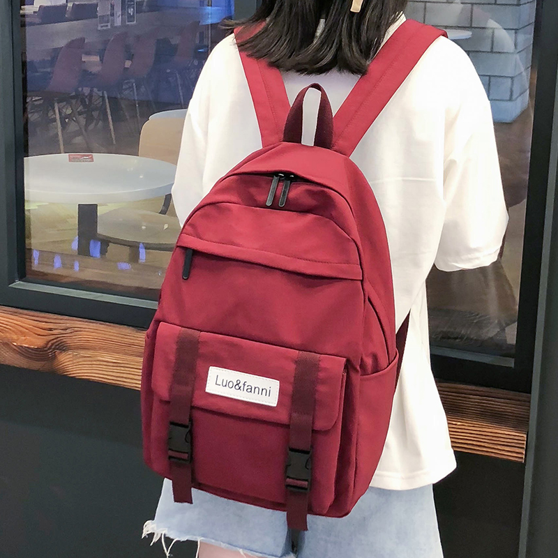 Cute Waterproof Buckle Backpack Women Large Capacity School Bags For Teenage Girls Nylon Backpack Female Fashion Bag Lady Luxury
