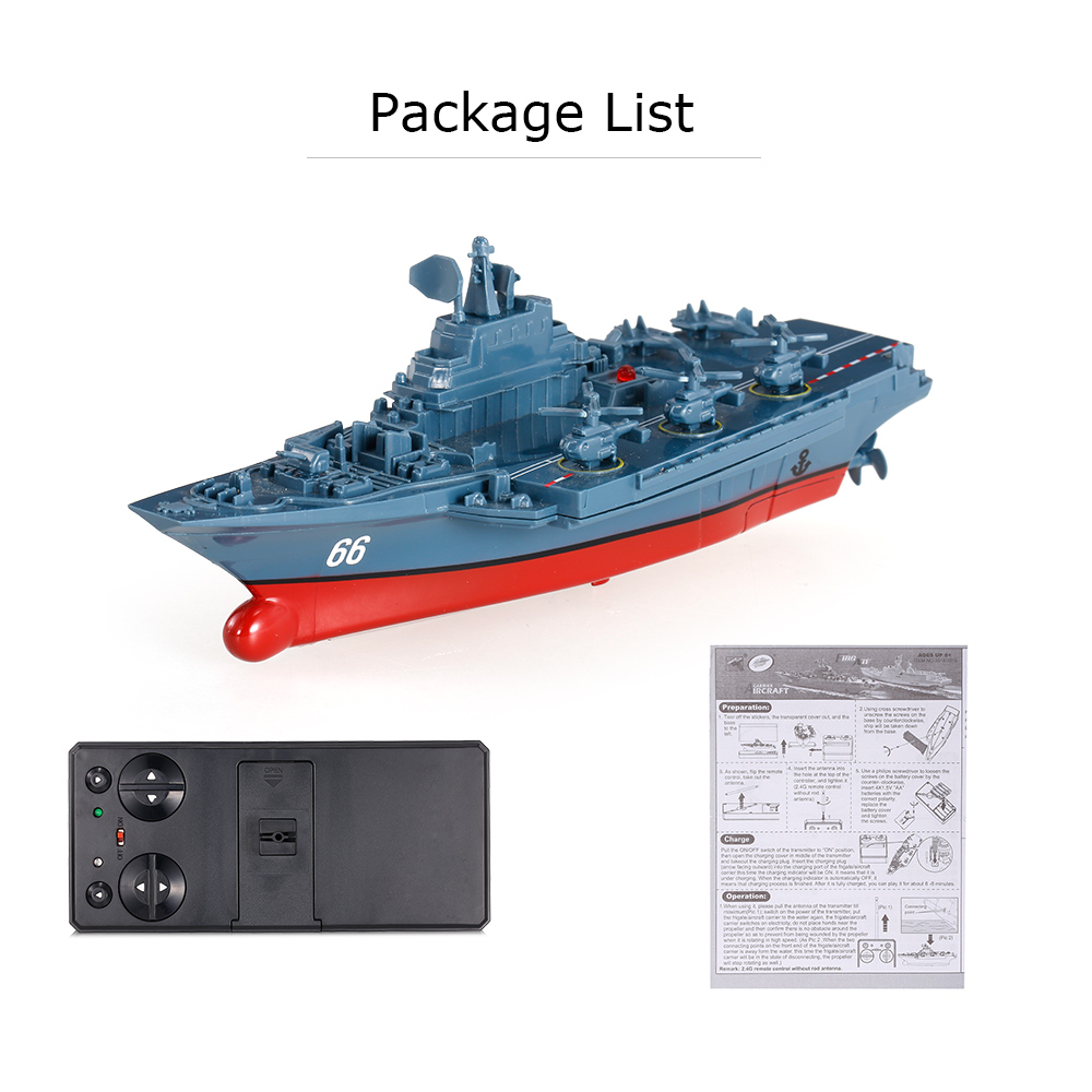 Remote Control Toys RC Boat Sea Star 3319 2.4GHz All Direction Navigate Mini Radio Control Electric Aircraft Carrier Model RTR (10)