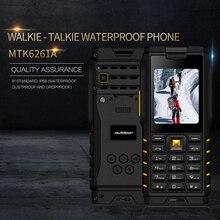 Ioutdoor T2 IP68 防水頑丈なインターホントランシーバー携帯電話の強力な Singnal 懐中電灯ロングスタンバイ電源銀行 P010