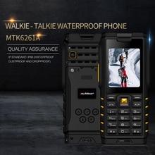 Ioutdoor T2 IP68 étanche robuste interphone talkie walkie téléphone Mobile forte lampe de poche unique longue batterie externe de secours P010