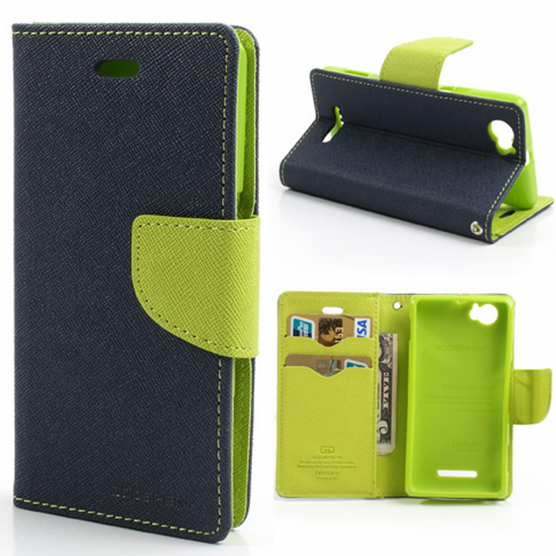 New Mercury Wallet PU Flip Leather Case With Credit Card