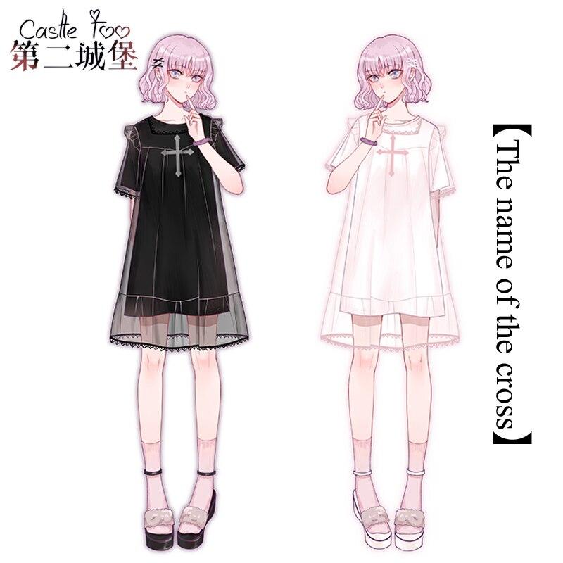 Été Lolita conception originale femmes courte Lolita jolie robe douce filles quotidien coton T-shirt à volants en mousseline de soie couverture jupe 2018 nouveau