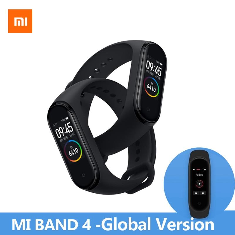 In Voorraad Originele Xiao mi mi band 4 2019 nieuwste armband Hartslag Fitness 135 Mah kleur scherm Bluetooth 5.0 smart Horloge-in Slimme polsbandjes van Consumentenelektronica op  Groep 1