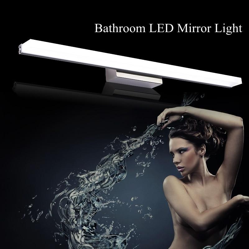 Moda Xətti Akril LED Güzgü İşıq 0.4M ~ 1.5M Ağ Lampshade Hamam - Daxili işıqlandırma - Fotoqrafiya 6