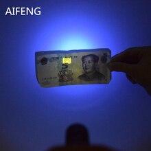 AIFENG Профессиональный 365nm УФ-вспышка светильник светодиодный aa батарея для проверки маркера обнаружения УФ 365nm сенсорный Voilet Фиолетовый УФ-светильник