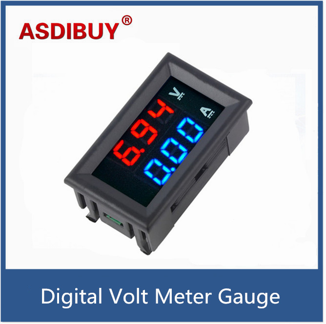 Top Quality DC 100V 10A Voltmeter Ammeter Blue + Red LED Amp Dual Digital Volt Meter Gauge Voltage Current Home Use Tool dc 0 100v 1000a voltage meter current gauge digital voltmeter ammeter amp volt panel meter