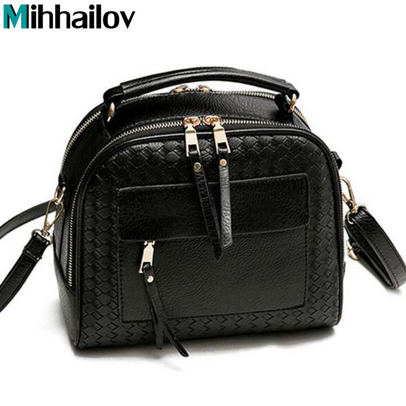 New Arrival Knitting Women Handbag Fashion Weave Shoulder Bag Small Casual Cross Body Bag Retro Totes   XS-13 new arrival fashion color stitching simple silver buckle casual chain handbag women s shoulder bag across body messenger totes
