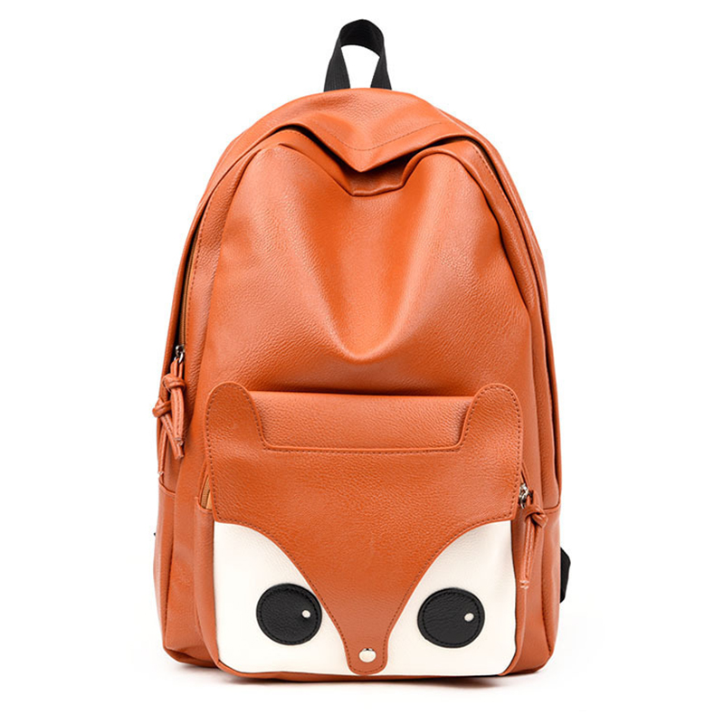 Women Backpack School Bag Leather Backpack For Teenager Girls Big Lovely Cute Fox Printing Design Backpack Casual Travel NewWomen Backpack School Bag Leather Backpack For Teenager Girls Big Lovely Cute Fox Printing Design Backpack Casual Travel New