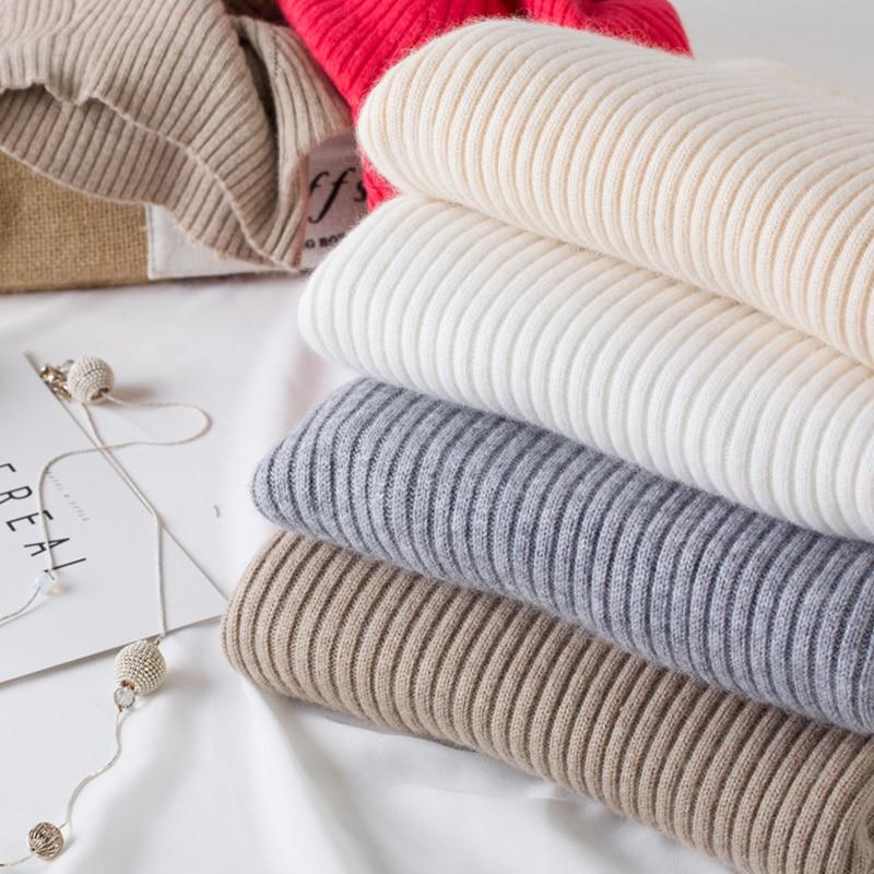 Women's Fashion White Black <font><b>Grey</b></font> <font><b>Ribbed</b></font> Cashmere <font><b>Sweater</b></font> Women <font><b>Long</b></font> Sleeve Autumn Winter Warm <font><b>Turtleneck</b></font> Pullover Knitted Jumper