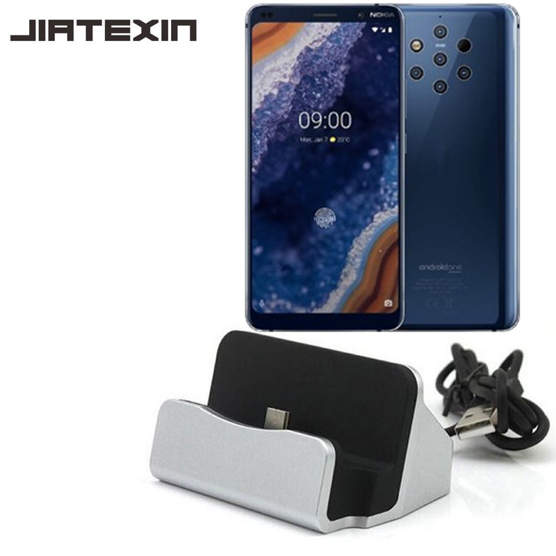 JIATEXIN For <font><b>Nokia</b></font> 9 PureView Sirocco Desktop Data Sync Type-C USB Cable Dock <font><b>Charger</b></font> Station For <font><b>Nokia</b></font> <font><b>8.1</b></font>/X7/X71 Adapter image