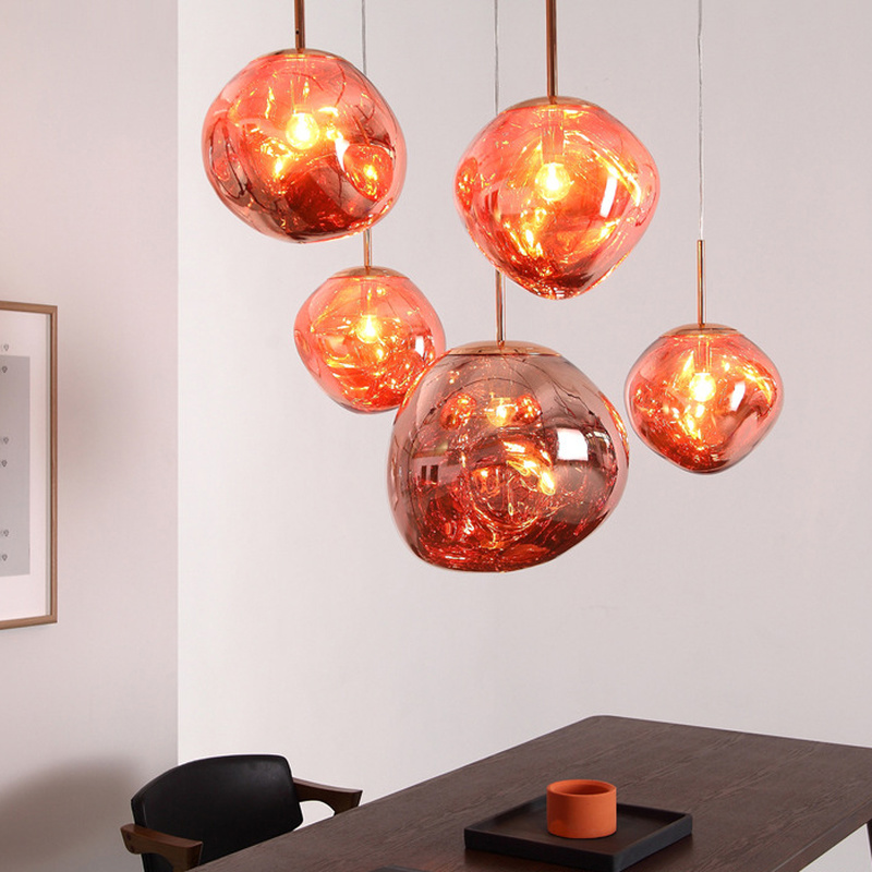 Modern LED Glass Lights Melt Lava Pendant Light Living Room Bedroom Restaurant Home Lighting Study Bedside Bar Lava Lamps modern led glass lights melt lava pendant light living room bedroom restaurant home lighting study bedside bar lava lamps