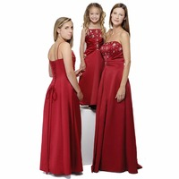 Long Maxi A LINE Formal Prom Bridesmaid DRESS Prom Christmas Party Pageant Dress Dresses Ruched Sashes