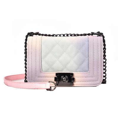 a0b90f8326f7 2018 Fashion Luxury Brand New Top Quality Caviar Rainbow Le Boy Crossbody  Bag Shoulder Silver Hareware