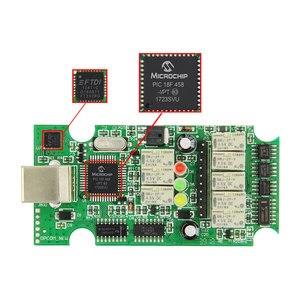 Image 3 - For Opel OP COM V1.95/V1.70 2014V PIC18F458 FTDI FT232RQ Be Flash Update OBDII OBD2 Diagnostic Scanner Cable Op com OPCOM V1.99