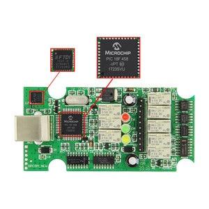 Image 3 - Opcom op com V1.95/V1.70 2014v PIC18F458 ftdi FT232RQがフラッシュobdii OBD2 診断スキャナケーブルop com opcom V1.99