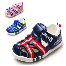 Infant Baby Boy/Girl Summer PU Damping Anti-skid Shoes Unisex Sandles Children Closed Toe Soft Breathable Orthopedic Sandals