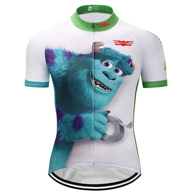 Crossrider 2018 Cartoon pro Cycling jerseys MTB funny Bike Wear cycle Clothes Short Maillot Roupa Ropa De Ciclismo Hombre Verano